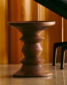 Eames Walnut Stool/ Accent Table - Herman Miller. Stools in creative director office