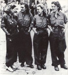 French girls from FFI in Bretagne 1944