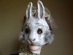 Máscaras de animales papel maché Conejo Liebre máscara de papel