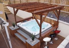 Garden room hot tub Hot Tub Portfolio - All Seasons Living - Garden Rooms amp; Hot Tub Pergola, Outdoor Tub, Hot Tub Backyard, Hot Tub Garden, Backyard Gazebo, Backyard Patio Designs, Backyard Ideas, Whirlpool Pergola, Gardens