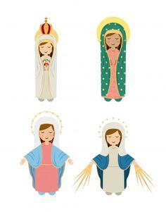 Catholic Art, Catholic Saints, Catholic Wallpaper, Jesus Cartoon, Jesus Faith, Take Me To Church, Religious Pictures, Blessed Mother Mary, Mary And Jesus
