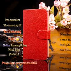 PU Leather Covers Cases For Samsung Galaxy NoteV N9200 Note5 5.7'' Note V N920 Note 5 N9208 Cases Luxury Bling with Card Holder