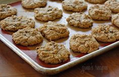 Low-fat pumpkin spiced chocolate chip cookies. Jordan actually made these and they were delish!