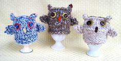 Owl Egg Cozy!  Pattern at Flutterby Patch