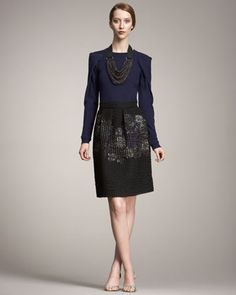 Matelasse Skirt - Neiman Marcus