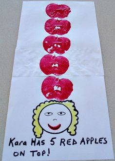 "Dr. Seuss ""Ten Apples Up On Top"" craft"