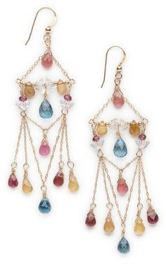 Earrings with Tourmaline Faceted Teardrop Gemstone Beads and Gold-Filled Chain - Fire Mountain Gems and Beads