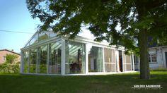 Realisatie te Mariakerke. Landelijke glazen veranda. #veranda #vanderbauwhede #bauwhede