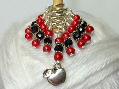 Red Apple Stitch Marker Set