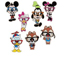 Mickey Mouse Mini Pin Set - Nerds | Disney Parks Product | Girls | Disney Parks Authentic | Disney Store