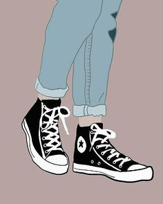 Converse✨ Chucks by Nicole Wilson Shoes Wallpaper, Tumblr Wallpaper, Girl Wallpaper, Screen Wallpaper, Converse Wallpaper, Wallpaper Ideas, Moomin Wallpaper, Fashion Wallpaper, Aesthetic Drawing