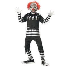 Creepy Clown Costume for Children - OrientalTrading.com