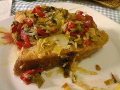 Açorda de Alho-francês e Pimento Vermelho