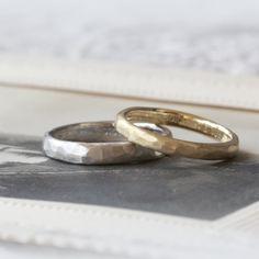 ゴールドとプラチナの色違いでおつくりした結婚指輪(ithオーダーメイド/手作り) marriage,ring,wedding,ウエディング,gold,