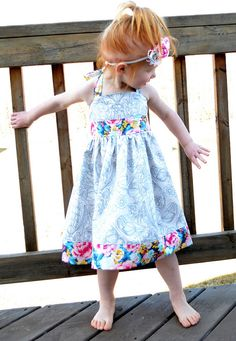 Custom Made to Order Girls Twirl Dress Summer Dress Toddler Boutique by GirlWithATwirl