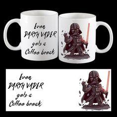 Even Darth Vader gets a Coffee Break, funny Darth Vader Coffee Mug