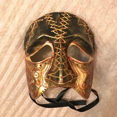 Venetian mask, bauta mask, Casanova mask, handmade mask, kinky mask, medieval mask, dark mask, leather mask, kinky face, male mask, knight by EthnicDrops on Etsy https://www.etsy.com/listing/571540883/venetian-mask-bauta-mask-casanova-mask