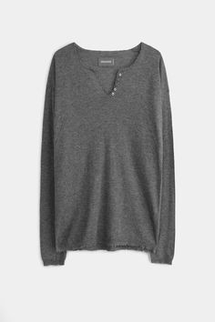 Zadig et Voltaire sweater, tunisian collar, metallic print at the back, 100% cashmere