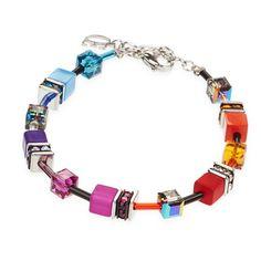 Coeur de Lion Multicolour Cube Bracelet
