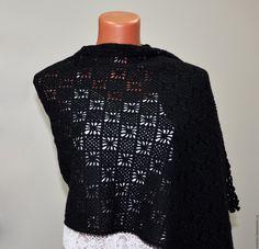 Купить Палантин коралловый - коралловый, шарф, шарф женский, шарф вязаный, Вязание крючком