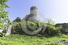 The ruins of the castle in Smolen, Poland