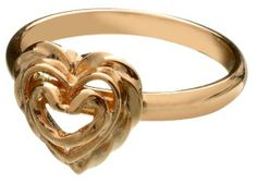 Kalevala Koru / Kalevala Jewelry / HEART OF THE HOUSE RING  Designer: Tony Granholm  Material: 14 carat gold or silver or bronze