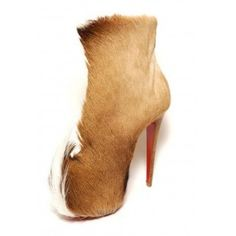 christian louboutin fur platform ankle bootschristian louboutin fur platform ankle boots