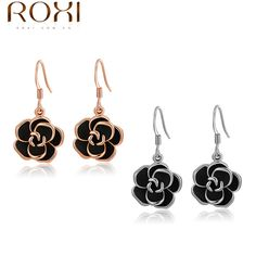 ROXI Fashion New Arrival Genuine Austrian Crystal Fashion Rose Earrings For Women Trendy Earrings Christmas/Birthday 2020001310  Price: US $21.45  Sale Price: US $1.72  #dressional