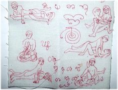 Pha Yant Bamrer Kamakun Gao - Nine Kama Sutra Postures Tantric Spell made from bedcloths of a famous brothel - Pra Ajarn Taep (Taep Into) Buddhist Art, Occult, Chakra, Persian, Thailand, Projects To Try, Charmed, Gao, Amulets