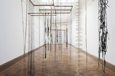 "Leonor Antunes ""the last days in chimalistac"" at Kunsthalle Basel, Switzerland 2013"