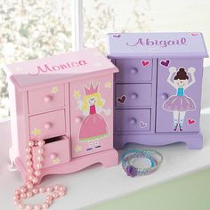 Find personalized gifts for kids at Personal Creations. Shop our wide assortment of unique kids gifts. Kids Storage Boxes, Disney Princess Bedroom, Kids Jewelry Box, Unicorn Room Decor, Cute Cat Wallpaper, Personalized Gifts For Kids, Crafts For Kids, Diy Crafts, Little Girl Gifts