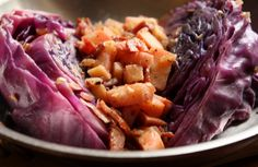 Gluten-free Seared Red Cabbage Wedges