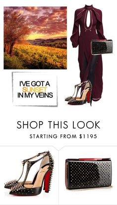 """Sunset over Tuscany vineyard"" by curlysuebabydoll ❤ liked on Polyvore featuring Christian Louboutin"