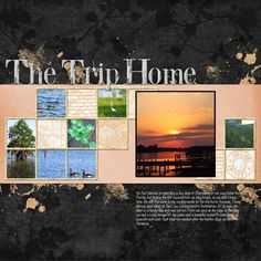 The Trip Home Digital Scrapbooking Layout by Jan Hicks