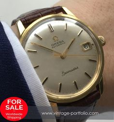Perfect Gold plated Omega Seamaster Automatic watch with Date, Vintage #omegaseamaster #seamaster #vintageos