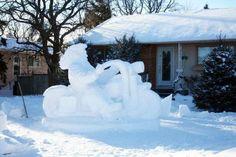 Harley Snow Sculpture