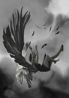 Image shared by Clarissa. Find images and videos about hush hush, patch and fallen angel on We Heart It - the app to get lost in what you love. Dark Fantasy Art, Anime Art Fantasy, Dark Art Drawings, Art Drawings Sketches, Fallen Angel Art, Angel Wallpaper, Arte Obscura, Angel Aesthetic, Angel And Devil