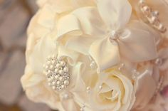 This was the first brooch bouquet I've made :)