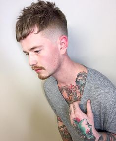 100 Amazing Fade Haircut For Men - [Nice 2019 Looks] Best Fade Haircuts, Haircuts For Men, Men's Haircuts, Unique Hairstyles, Hairstyles With Bangs, Men's Hairstyle, Side Fade, Afro Fade, Comb Over Fade