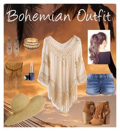 """Bohemian Outfit"" by mariafnafees ❤ liked on Polyvore featuring Chinese Laundry, River Island, Warehouse and Estée Lauder"