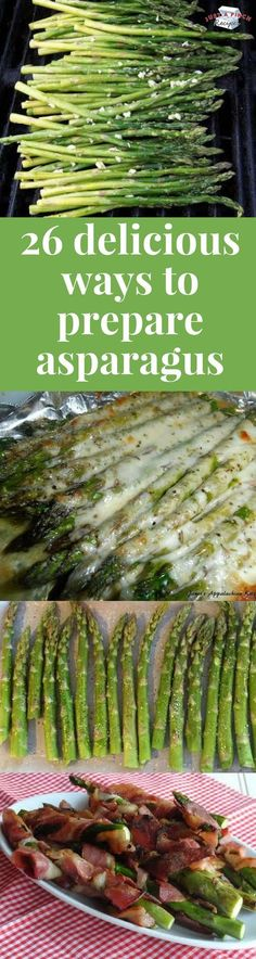 Asparagus is a crazy healthy food that you should be eating, so here are 26 yummy asparagus recipes you should try ASAP! #asparagus #sidedish #vegetables #veggies