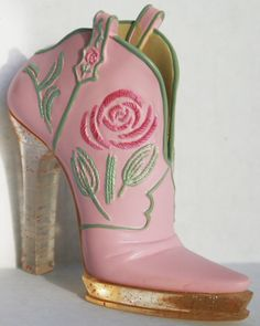 Just the Right Shoe 2009 Collectible Cowgirl Pink Cowboy Boot