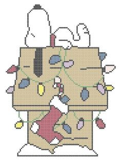 CHRISTMAS SNOOPY CROSS STITCH PATTERN #ComputerGenerated