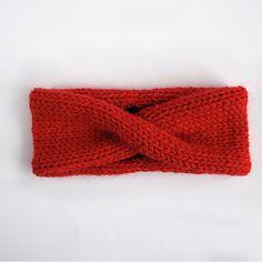 Anleitung Stirnband stricken - mit dickerem Garn und Nadelstärke 8 - gaaanz einfach! ♥