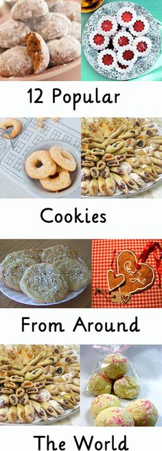 12 Popular cookies from around the world! Great for a cookie exchange or party! http://dishinwithrebelle.com/12-popular-christmas-cookies-from-around-the-world/
