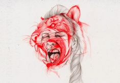 illustration work of Hong Kong based artist Peony Yip, aka The White Deer. Art And Illustration, Animal Illustrations, Biro Art, A Level Art, High School Art, Arte Pop, Peonies, Art Drawings, Pencil Drawings