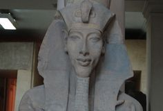 Statue of Akhenaten: Akhenaten ascended to the throne as the 10th Pharaoh of the 18th dynasty in 1352 B.C. He is depicted in paintings and carvings with an elongated skull, which some ancient alien theorists interpret as a sign of extraterrestrial heritage.