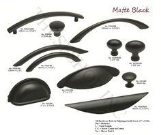 Elegant Matte Black Cabinet Hardware Knobs U0026 Drawer Handles, Bin Cup Pulls CATA53 B