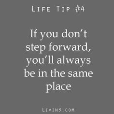 Life Tip to be Happy 4 Step Forward