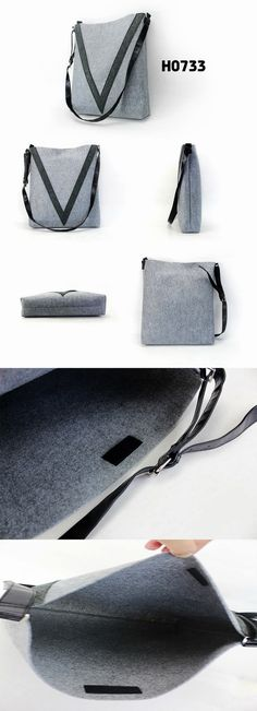 simple fashion felt shoulder bag for both men and women